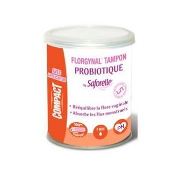 Florgynal Tampon Probiotique 9 mini compact by Saforelle