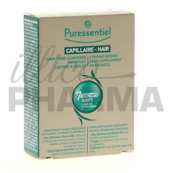 Puressentiel fortifiant cheveux ongles 30 capsules