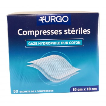 Urgo Compresse stérile 10x10cm 50 sachets de 2