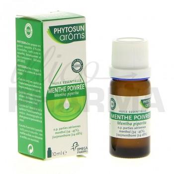 Huile essentielle menthe poivrée Phytosun 10ml