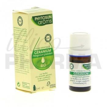 Huile essentielle Géranium bio Phytosun 5ml