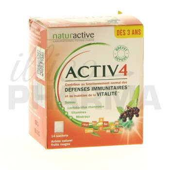 Activ 4 dès 3 ans Naturactive 14 sachets