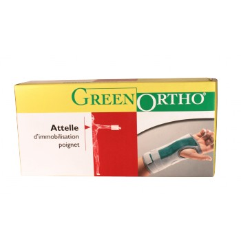 Attelle poignet-main rigide Green Ortho