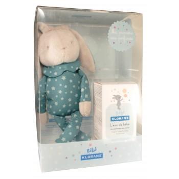 Klorane bébé Coffret lapin garçon bleu