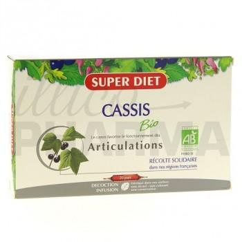 Cassis bio Superdiet 20 ampoules