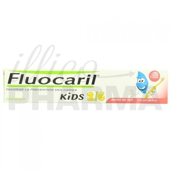 Fluocaril Kids 2/6 ans Fraise 50ml