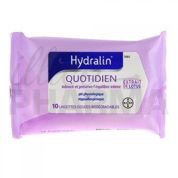 Hydralin Quotidien Lingettes