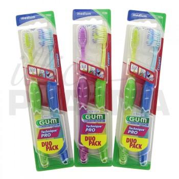Gum Technique Pro Duo Medium Compacte Lot 8+2 offertes